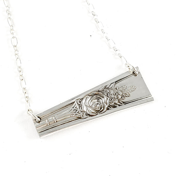 International Rosedale Reversible Spoon Bar Necklace by Midnight Jo