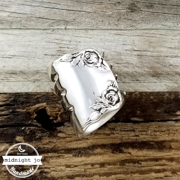 1888 Wallace Rose Sterling Silver Fork Ring