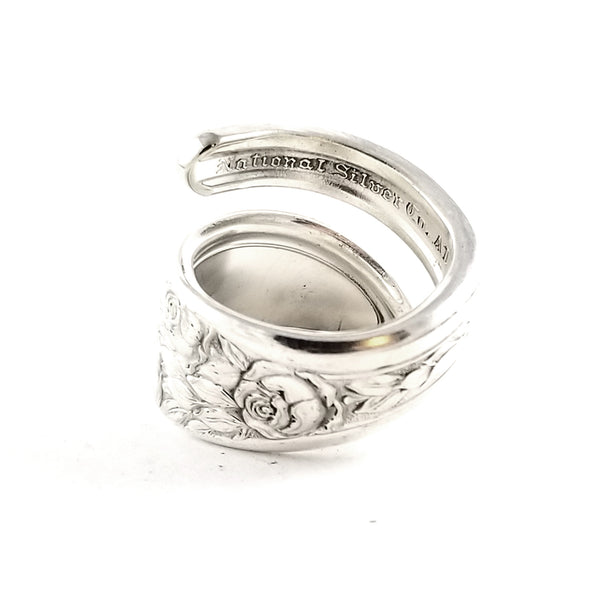 National Rose & Leaf Wrap Around Spoon Ring by Midnight Jo