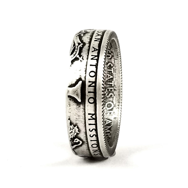 Silver San Antonio Missions National Park Quarter Ring by midnight jo