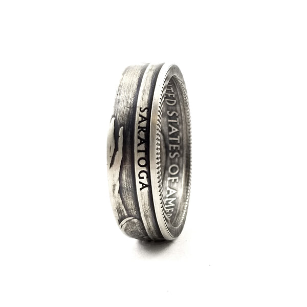 90% Silver Saratoga National Park Coin Ring by Midnight Jo