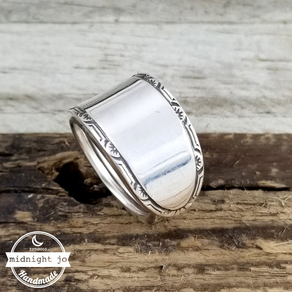 Simple Sterling Silver Spoon Ring