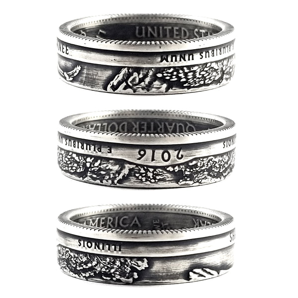 90% Silver Shawnee National Quarter Coin Ring by Midnight Jo