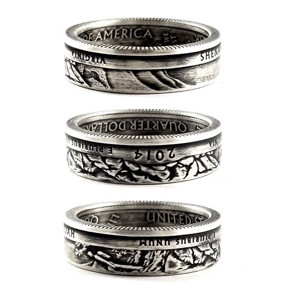 90% Silver Shenandoah National Park coin Ring by midnight jo
