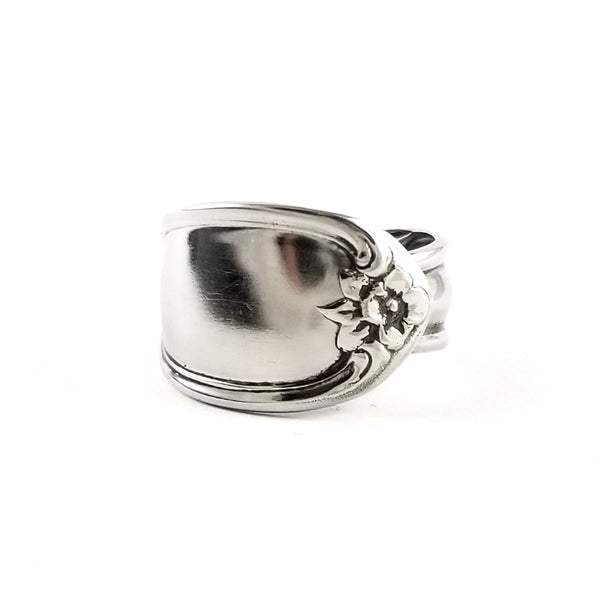 Floral Stainless Steel Spoon Ring Jewelry by Midnight Jo