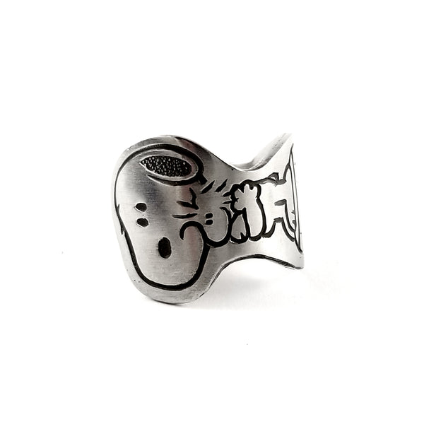Snoopy & Woodstock Stainless Steel Spoon Ring by Midnight Jo