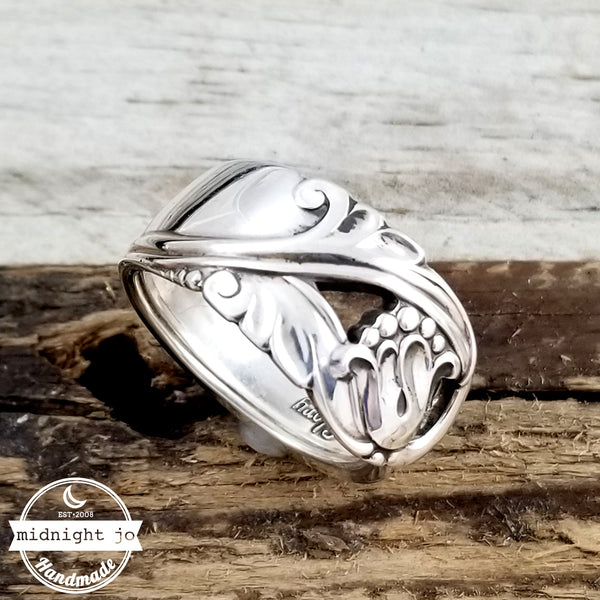 international spring glory sterling silver spoon ring