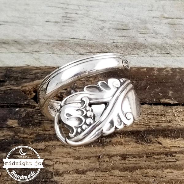 International Spring Glory Sterling Silver Wrap Around Spoon Ring