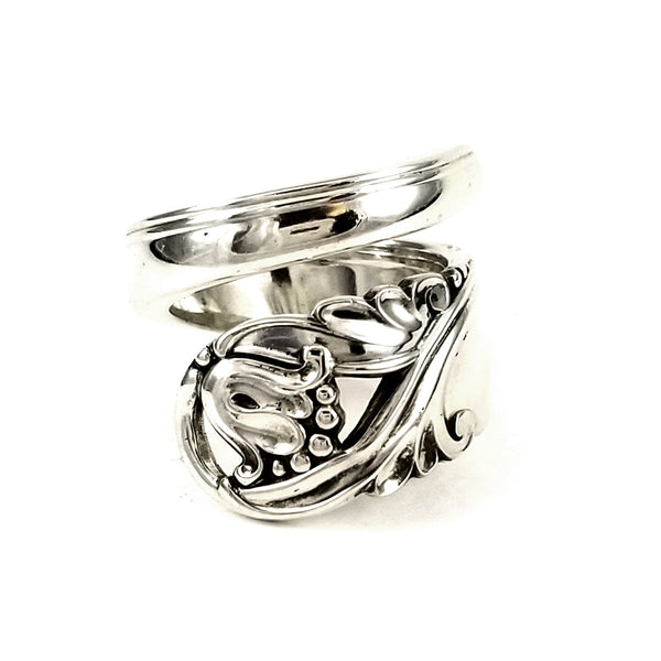 sterling silver floral spoon ring by midnight jo