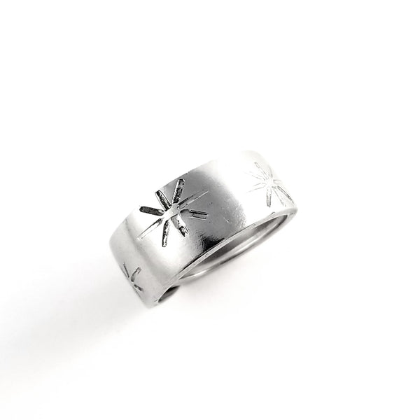 50's Starburst Stainless Steel Spoon Ring by Midnight Jo