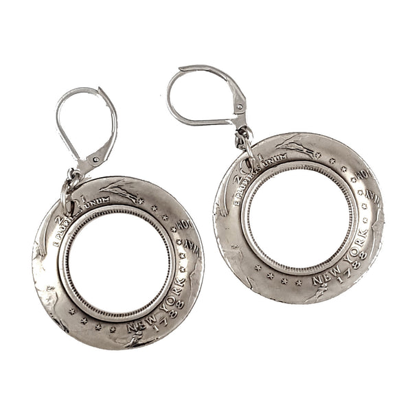 new york state coin earrings