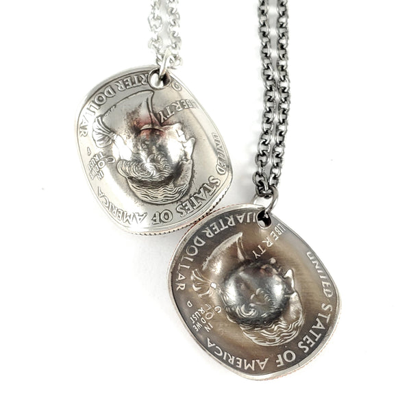 State Quarter Cowboy Hat Necklace by Midnight Jo