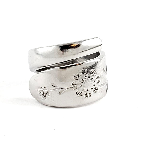 Wood Dale Sunflowers Stainless Steel Spoon Wrap Around Ring by Midnight Jo