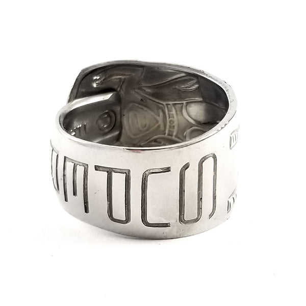 Vintage Imperial Superman Stainless Steel Spoon Ring by Midnight Jo