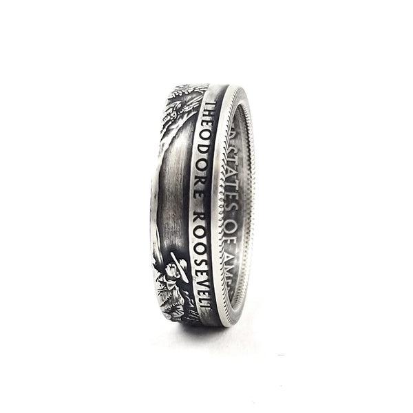 90% Silver Theodore Roosevelt National Park Quarter Ring by midnight jo