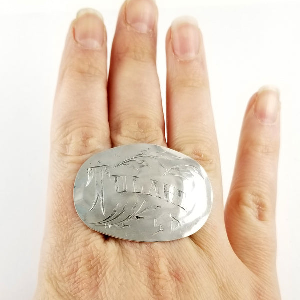 Sterling Silver Tulare SD Souvenir Spoon Statement Ring by midnight jo