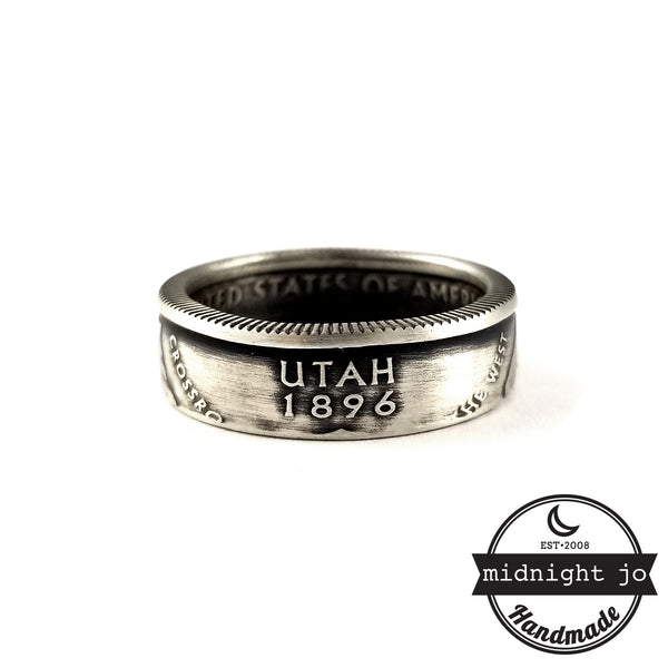 Silver Utah coin Ring by midnight jo