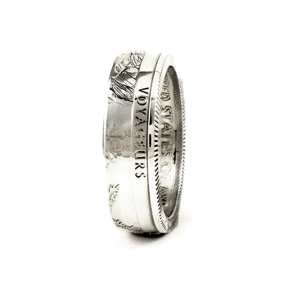 Silver Voyageurs National Park Quarter Ring by Midnight Jo