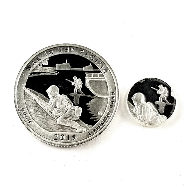 Silver War in the Pacific National Park Quarter  by midnight jo