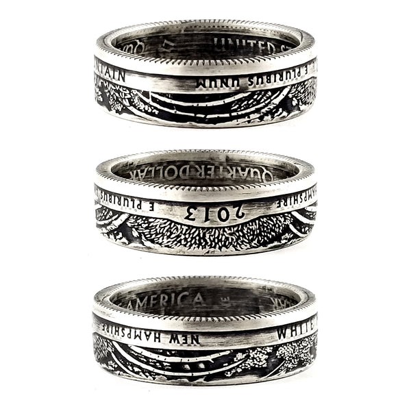 90% Silver White Mountain National Park Quarter Ring by midnight jo