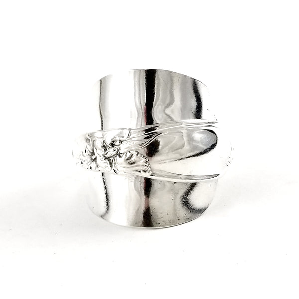 Oneida White Orchid Demitasse Spoon Ring by Midnight Jo