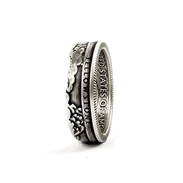 90% Silver Yellowstone National Park Quarter Ring by midnight jo