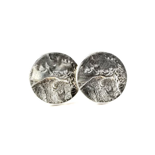 Yellowstone National Park Coin Stud Earrings by midnight jo