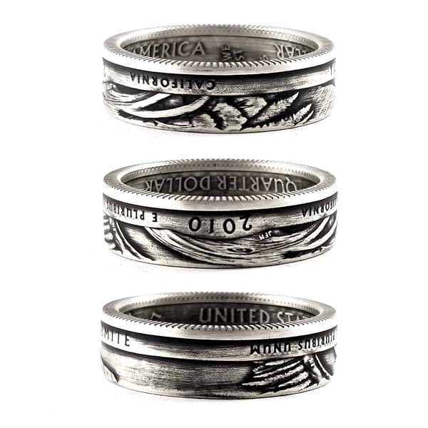 90% Silver Yosemite National Park Quarter Ring by midnight jo