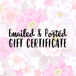 Gift Certificate (Emailed & Posted) - Whimsical Co