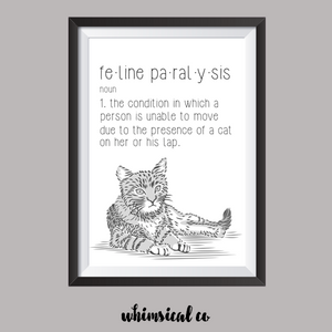 Feline Paralysis A4 Print - Whimsical Co