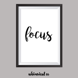Focus A4 Print - Whimsical Co
