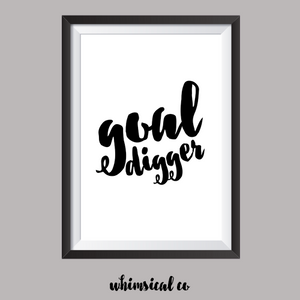 Goal Digger A4 Print - Whimsical Co