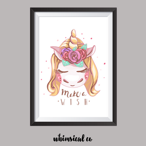 Make A Wish A4 Print - Whimsical Co