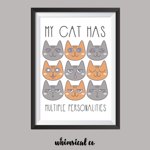 Multiple Personalities A4 Print - Whimsical Co