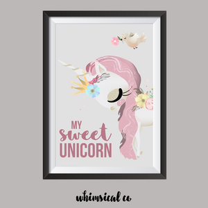 My Sweet Unicorn A4 Print - Whimsical Co