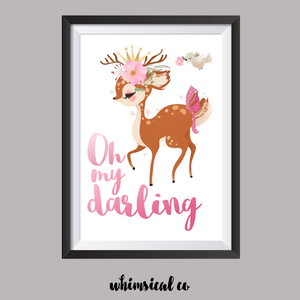 Oh My Darling A4 Print - Whimsical Co