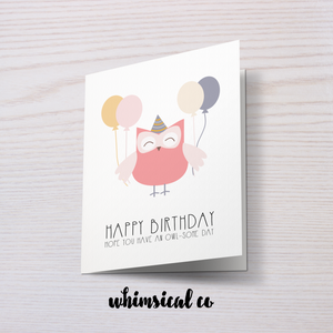 Owl-Some Day (Birthday) - Whimsical Co
