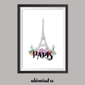 Paris A4 Print - Whimsical Co