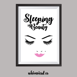Sleeping Beauty (Version 1) A4 Print - Whimsical Co