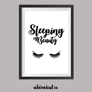 Sleeping Beauty (Version 2) A4 Print - Whimsical Co