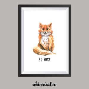 So Foxy A4 Print - Whimsical Co
