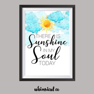 Sunshine In My Soul A4 Print - Whimsical Co