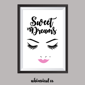 Sweet Dreams (Version 1) A4 Print - Whimsical Co