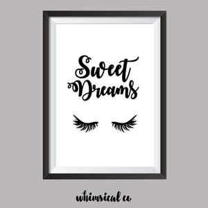 Sweet Dreams (Version 2) A4 Print - Whimsical Co