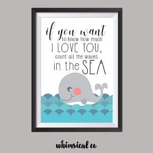 Waves In The Sea A4 Print - Whimsical Co