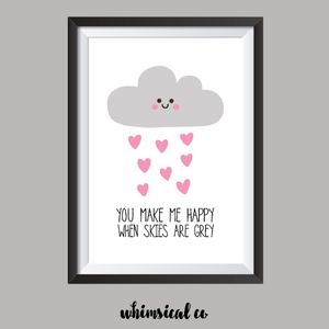 You Are My Sunshine (Part 2) A4 Print - Whimsical Co