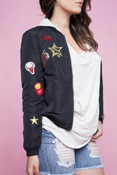 PATCH ME UP BOMBER JACKET