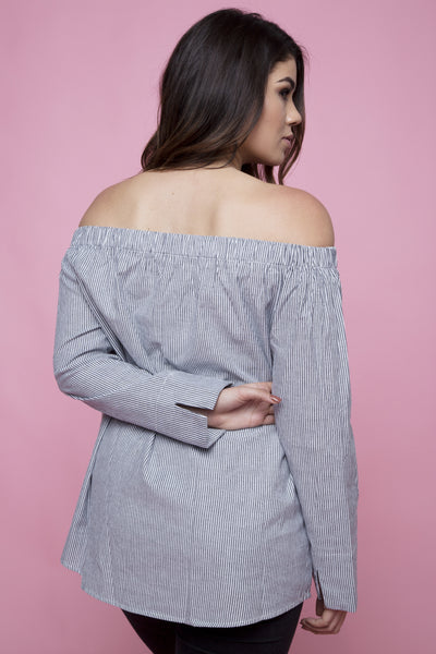 BRIDGET OFF THE SHOULDER L/S