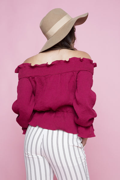 ALL RUFFLED UP TOP