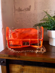 TRANSPARENT TANGERINE CROSSBODY BAG